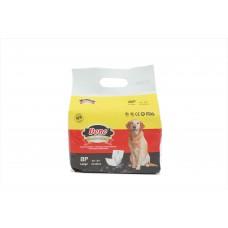 Памперс бандаж за мъжки кучета DONO L едри породи, 8бр в п 63-80 см. Male-L