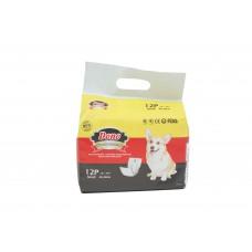 Памперс бандаж за мъжки кучета DONO S дребни породи, 12бр в п. 30-48 см. Male-S